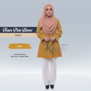 Naura Plain Blouse 2664 (Gold)
