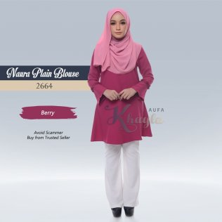 Naura Plain Blouse 2664 (Berry)