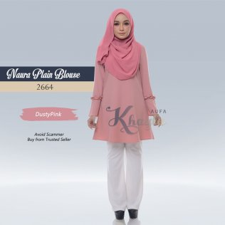 Naura Plain Blouse 2664 (DustyPink)