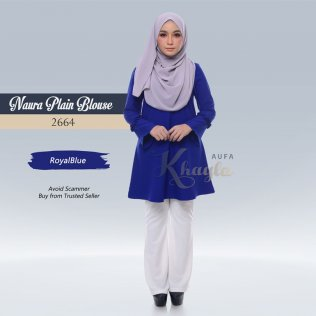 Naura Plain Blouse 2664 (RoyalBlue)