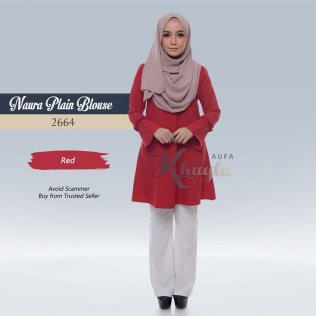 Naura Plain Blouse 2664 (Red)
