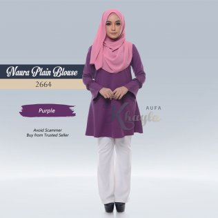 Naura Plain Blouse 2664 (Purple)