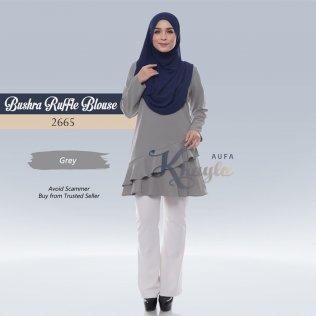 Bushra Ruffle Blouse 2665 (Grey)