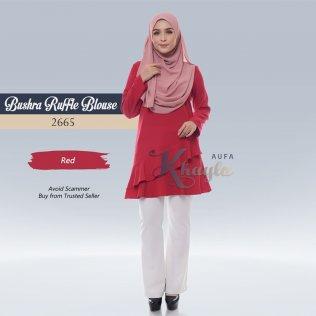 Bushra Ruffle Blouse 2665 (Red)