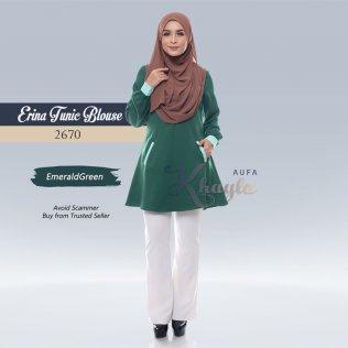 Erina Tunic Blouse 2670 (EmeraldGreen)