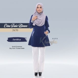 Erina Tunic Blouse 2670 (DarkBlue)
