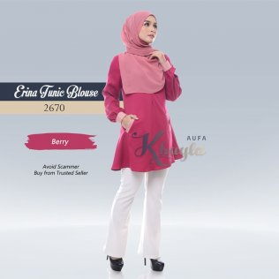 Erina Tunic Blouse 2670 (Berry)