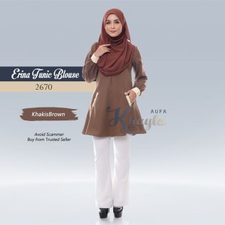 Erina Tunic Blouse 2670 (KhakisBrown)