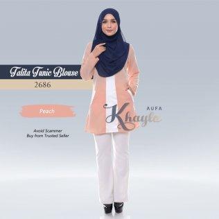Talita Tunic Blouse 2686 (Peach)
