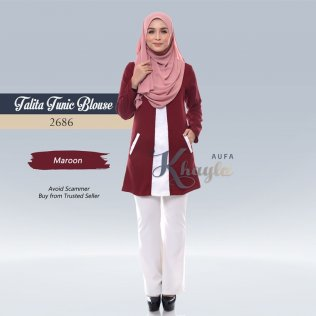 Talita Tunic Blouse 2686 (Maroon)