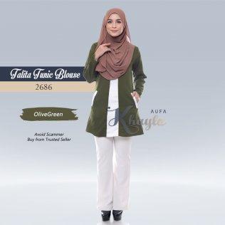 Talita Tunic Blouse 2686 (OliveGreen)