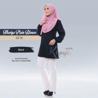 Mariya Plain Blouse 3878 (Black)