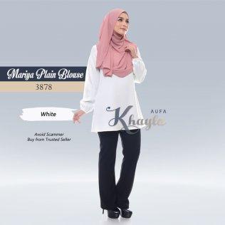 Mariya Plain Blouse 3878 (White)