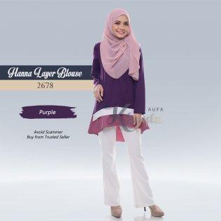 Hanna Layer Blouse 2678 (Purple)