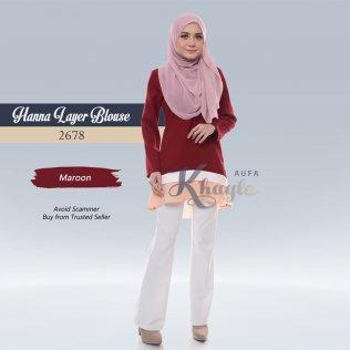 Hanna Layer Blouse 2678 (Maroon)