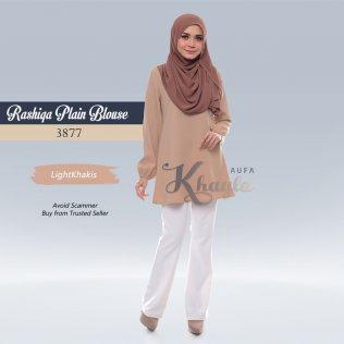 Rashiqa Plain Blouse 3877 (LightKhakis)