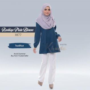 Rashiqa Plain Blouse 3877 (TealBlue)