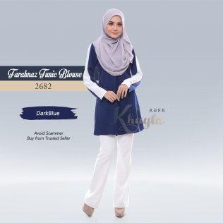 Farahnaz Tunic Blouse 2682 (DarkBlue)