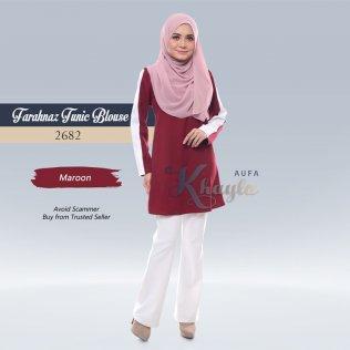 Farahnaz Tunic Blouse 2682 (Maroon)