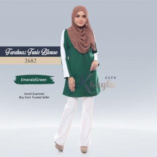 Farahnaz Tunic Blouse 2682 (EmeraldGreen)