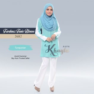Farahnaz Tunic Blouse 2682 (Turquoise)