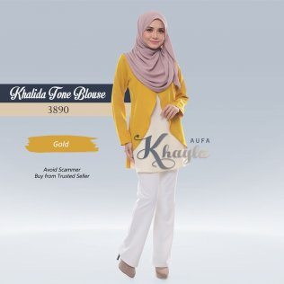 Khalida Tone Blouse 3890 (Gold)