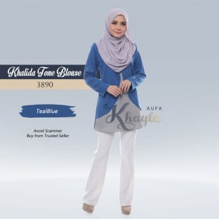 Khalida Tone Blouse 3890 (TealBlue)