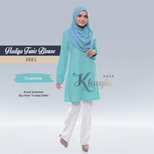 Hadiya Tunic Blouse 3885 (Turquoise)