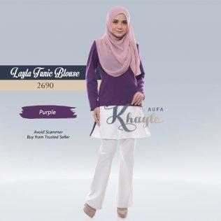 Layla Tunic Blouse 2690 (Purple)