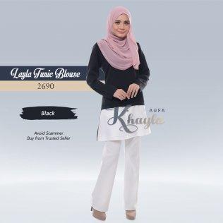 Layla Tunic Blouse 2690 (Black)