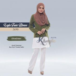 Layla Tunic Blouse 2690 (OliveGreen)