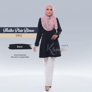 Malika Plain Blouse 3902 (Black)