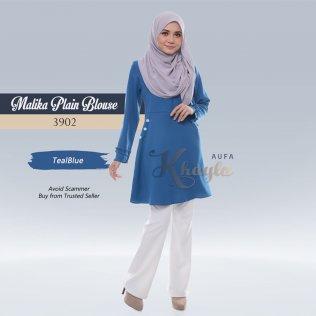 Malika Plain Blouse 3902 (TealBlue)