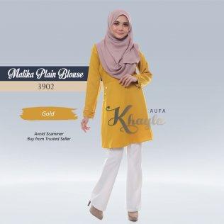 Malika Plain Blouse 3902 (Gold)