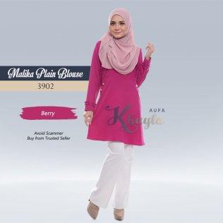 Malika Plain Blouse 3902 (Berry)