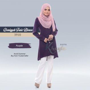 Qismiyyah Tunic Blouse 3910 (Purple)