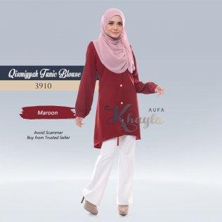 Qismiyyah Tunic Blouse 3910 (Maroon)