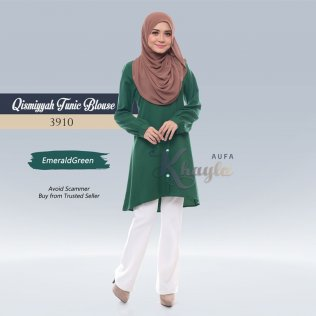 Qismiyyah Tunic Blouse 3910 (EmeraldGreen)