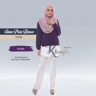 Ainun Plain Blouse 3906 (Purple)