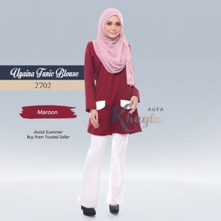 Uyaina Tunic Blouse 2702 (Maroon)