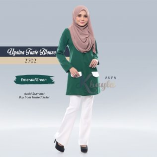 Uyaina Tunic Blouse 2702 (EmeraldGreen)