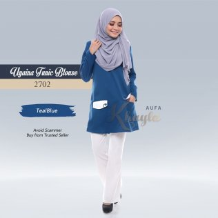 Uyaina Tunic Blouse 2702 (TealBlue)