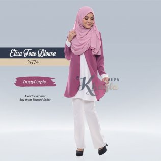 Eliza Tone Blouse 2674 (DustyPurple)