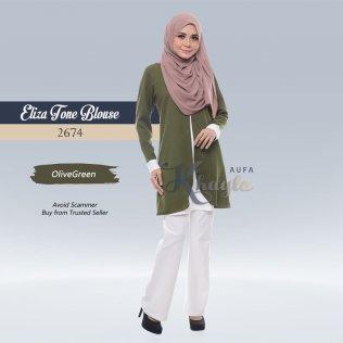 Eliza Tone Blouse 2674 (OliveGreen)