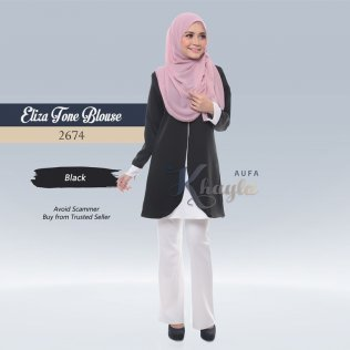 Eliza Tone Blouse 2674 (Black)