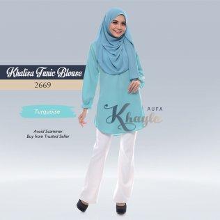 Khalisa Tunic Blouse 2669 (Turquoise)