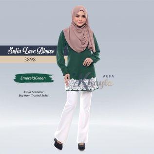 Sufia Lace Blouse 3898 (EmeraldGreen)