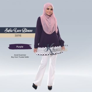 Sufia Lace Blouse 3898 (Purple)
