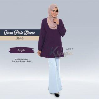 Qeera Plain Blouse 3646 (Purple)