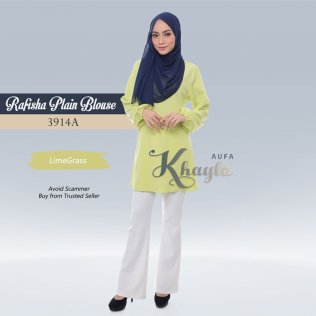 Rafisha Plain Blouse 3914A (LemonGrass)